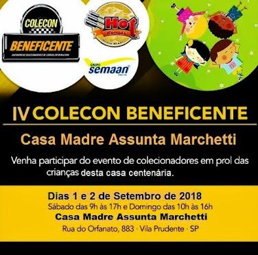 IV COLECON BENEFICENTE EM PROL DA CASA ABRIGO MADRE ASSUNTA MARCHETTI