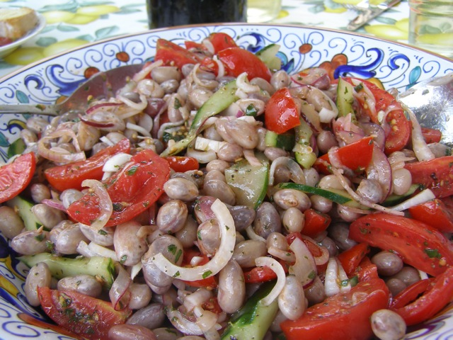 Recipe: Cranberry Bean Salad - Insalata di Fagioli Borlotti