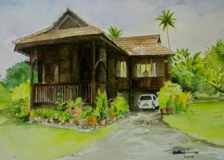 rumah pedesaan sekitar