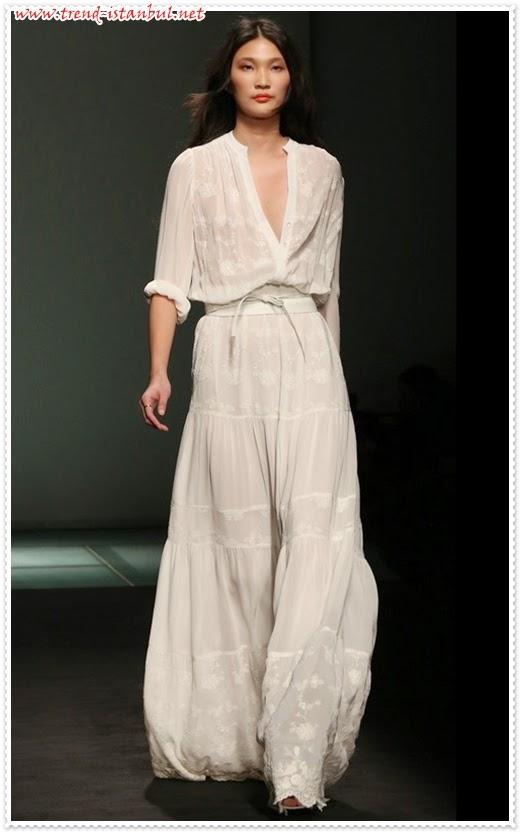 2014 Bol Kesim Yazlık Elbise Modelleri