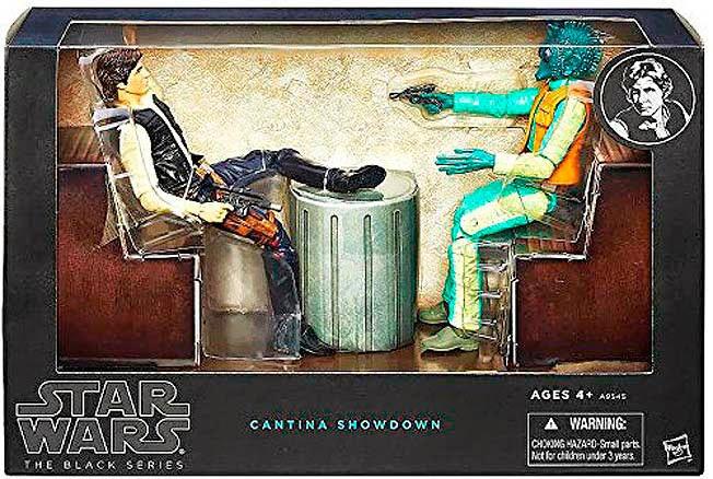 Figuras Han Solo y Greedo Star Wars Cantina