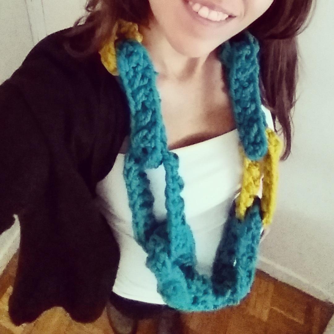 cuello bufanda tejido a crochet -  BUFANDA TIPO CADENA A CROCHE