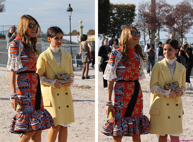 Anna Dello Russo and Miroslava Duma at The Chloe S/S 2013 Ready-To-Wear Show during Paris Fashion Week