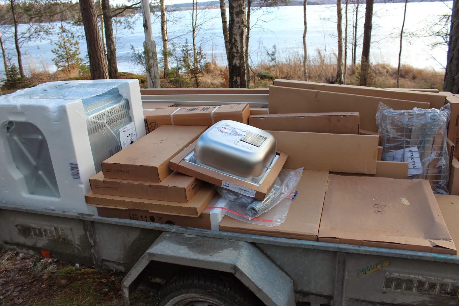 Modern Chic Ikea keittiö vaiheessa
