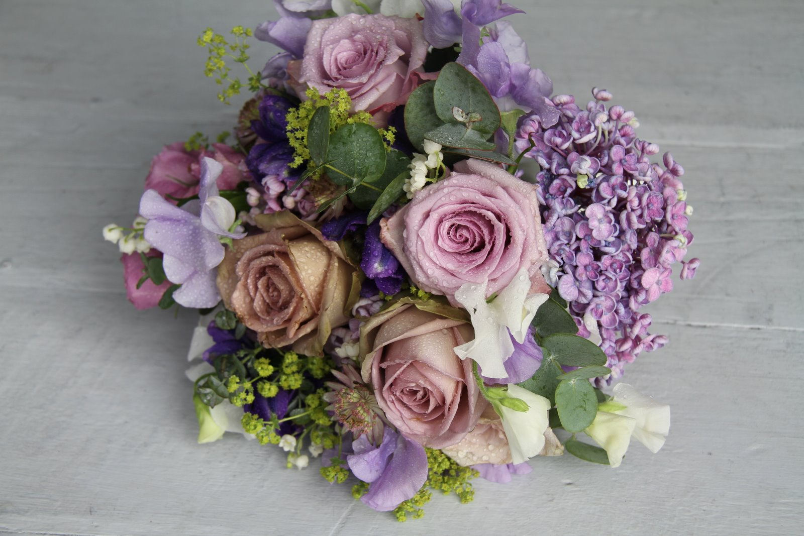 the flower magician antique lavender wedding bouquet