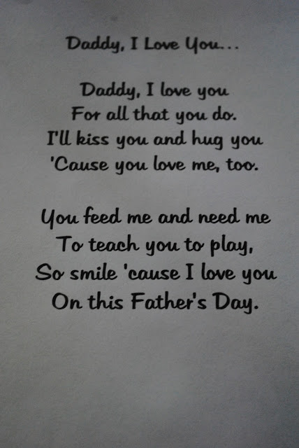 Babies 1st Father's Day poem