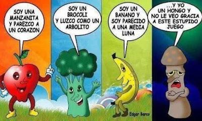 Humor entre Frutas y Vegetales