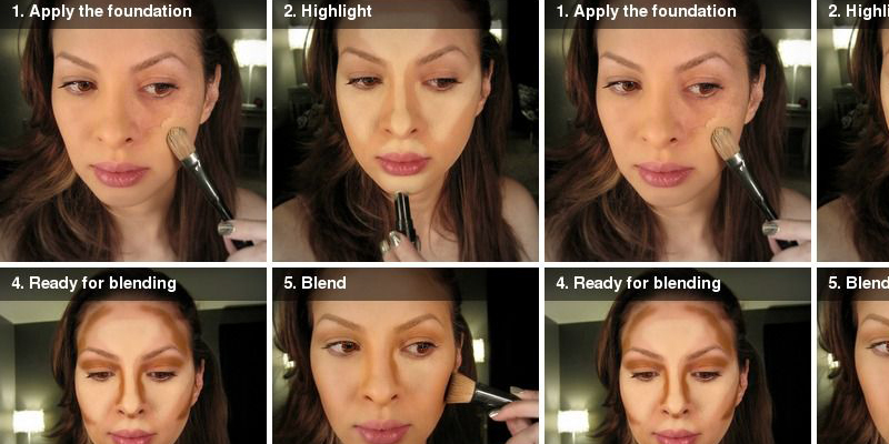 Step-By-Step Tutorial for Highlight And Contour - B & G Fashion