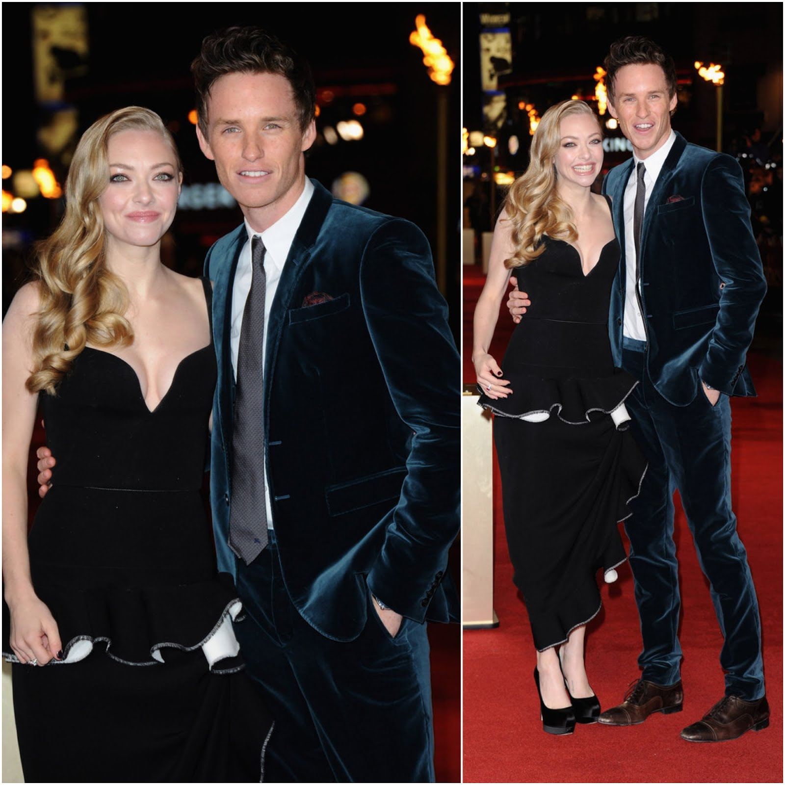 00O00 London Menswear Blog Celebrity Style Amanda Seyfried and Eddie Redmayne in Burberry - Les Miserables World Premiere, London
