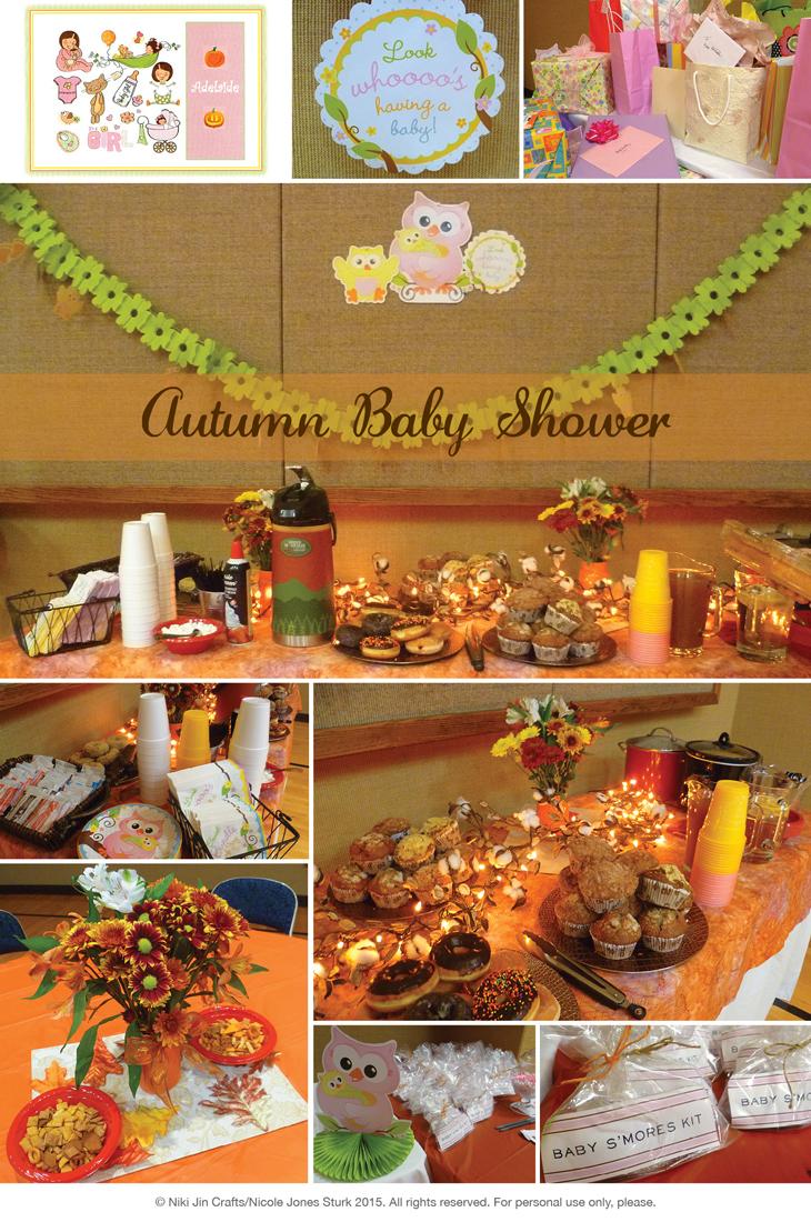 niki jin crafts my autumn baby shower, Baby shower invitation