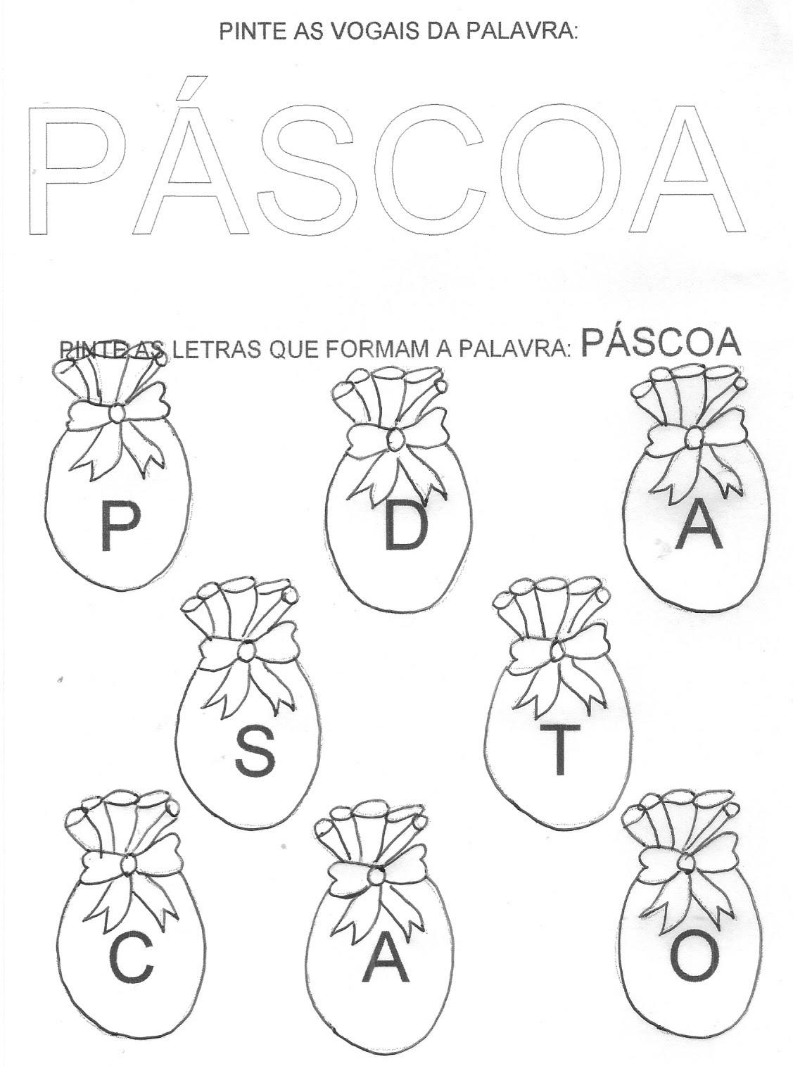 ATIVIDADES DE PÁSCOA - 90 EXERCÍCIOS E DESENHOS