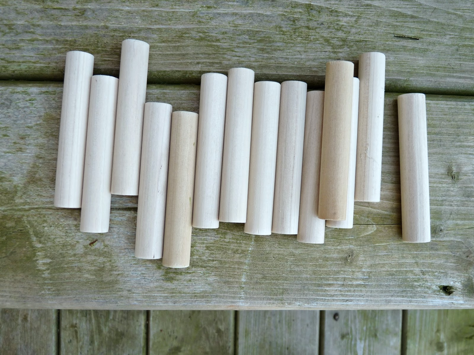 Projects using wood dowel pegs