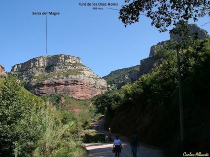 La Vall Llòbrega des del trencall de Can Tabola. Autor: Carlos Albacete