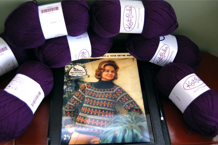 1960s vintage knitting pattern