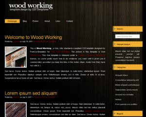 Wood Working CSS Template