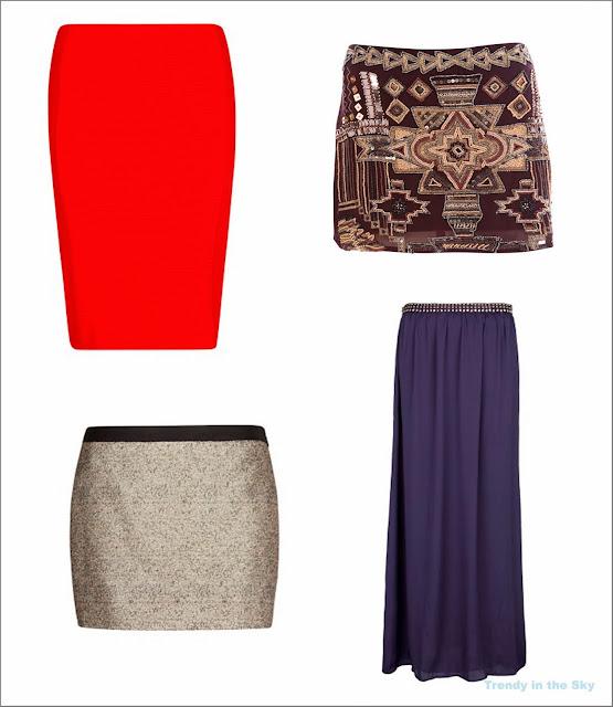 Distintos tipos de faldas para una fiesta