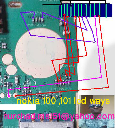 Nokia 100 White Lcd Problem Solution By Jumpering
