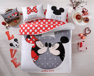 TAÇ Disney Mickey & Minnie Loveis Çift Kişilik Nevresim Takımı