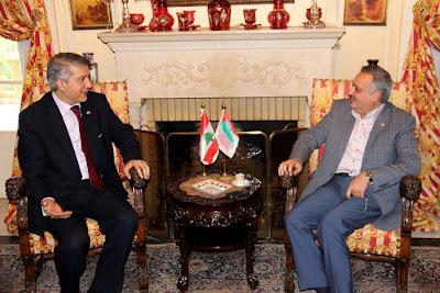 أرسلان يستقبل السفير التركي في خلدة