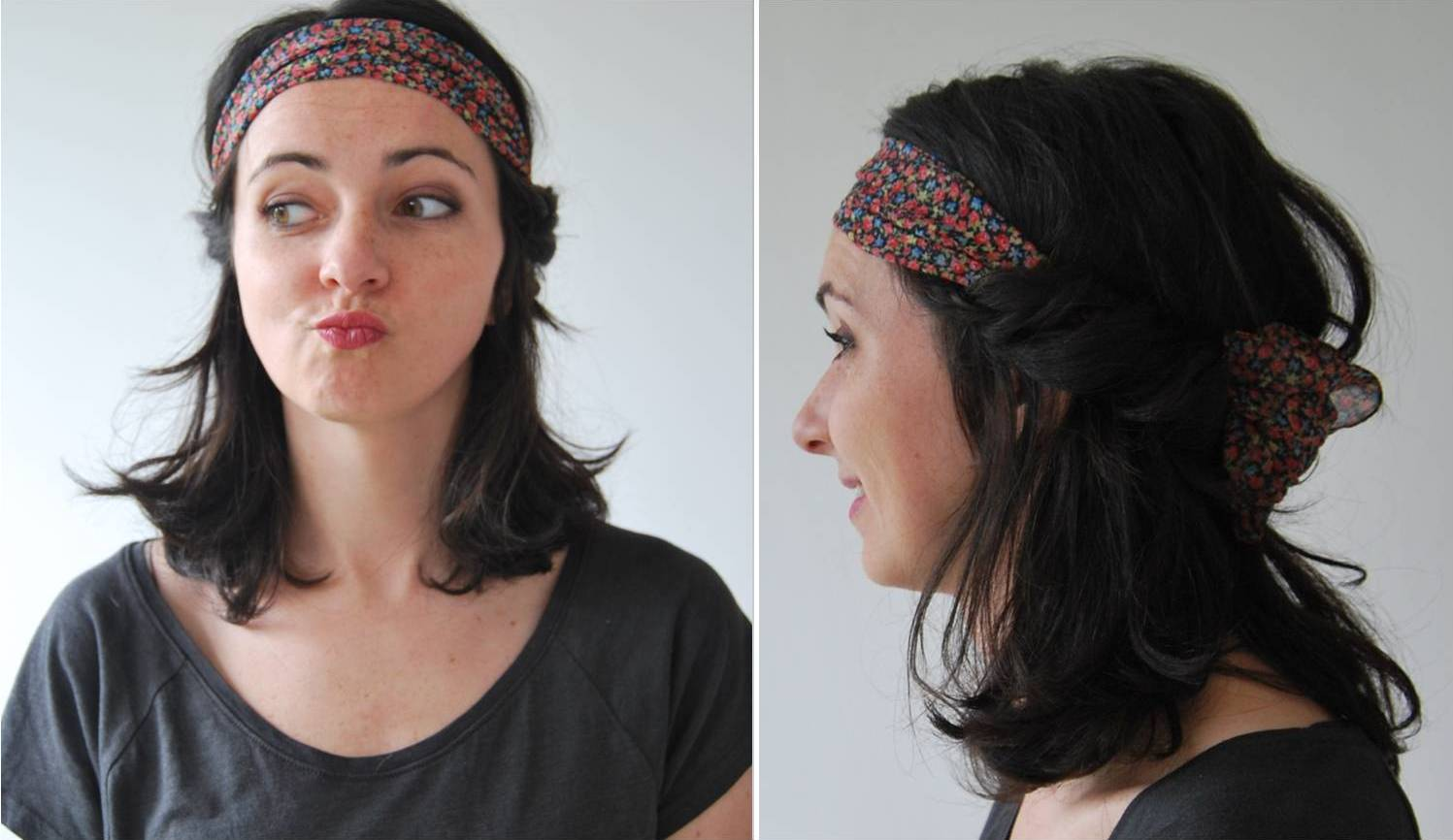 3 idées coiffures avec un foulard