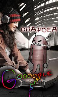 wallpaper 480x800 Google Android - девушка наслаждается в обществе Ондроеда