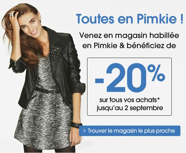 Venez habillée en Pimkie : 20% de réduction !