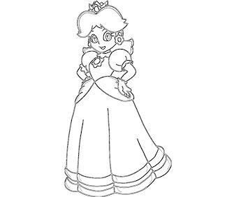#3 Princess Daisy Coloring Page