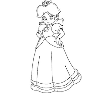 #3 Princess Daisy Coloring Page