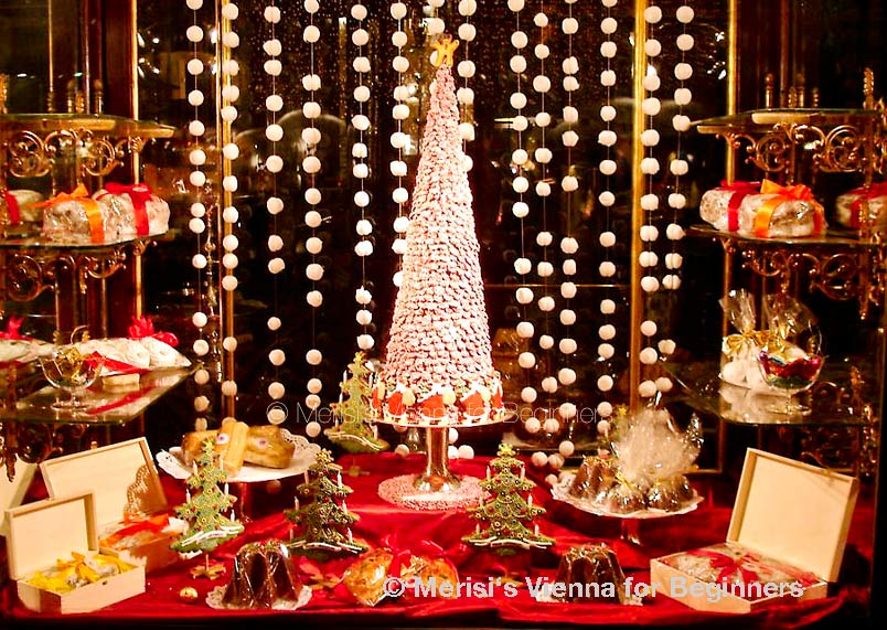 Great Demel Shop Windows Christmastime 2005. Sweet Christmas Trees