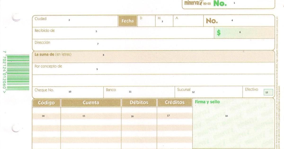 Documentos comerciales recibo de caja for Nominas para rellenar