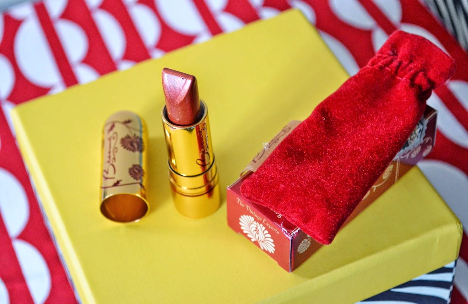 Besame Cosmetics lipstick in Coral - Aspiring Londoner