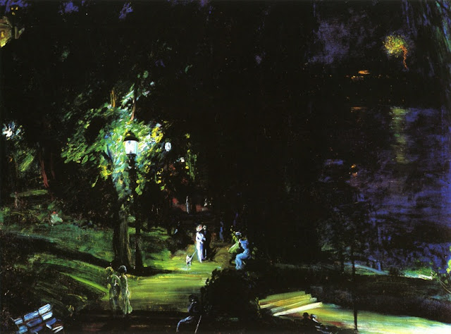 1909 Summer Night, Riverside Drive