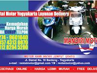 RentaL Motor Jogja ( Mandiri Motor ) dengan layanan Delivery