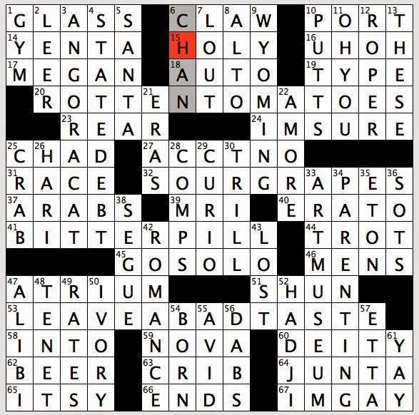 rex parker does the nyt crossword puzzle gossip spreader