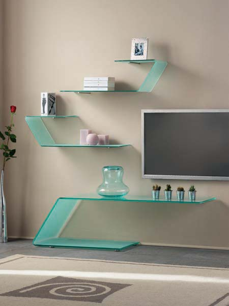 Decorative Glass Shelves