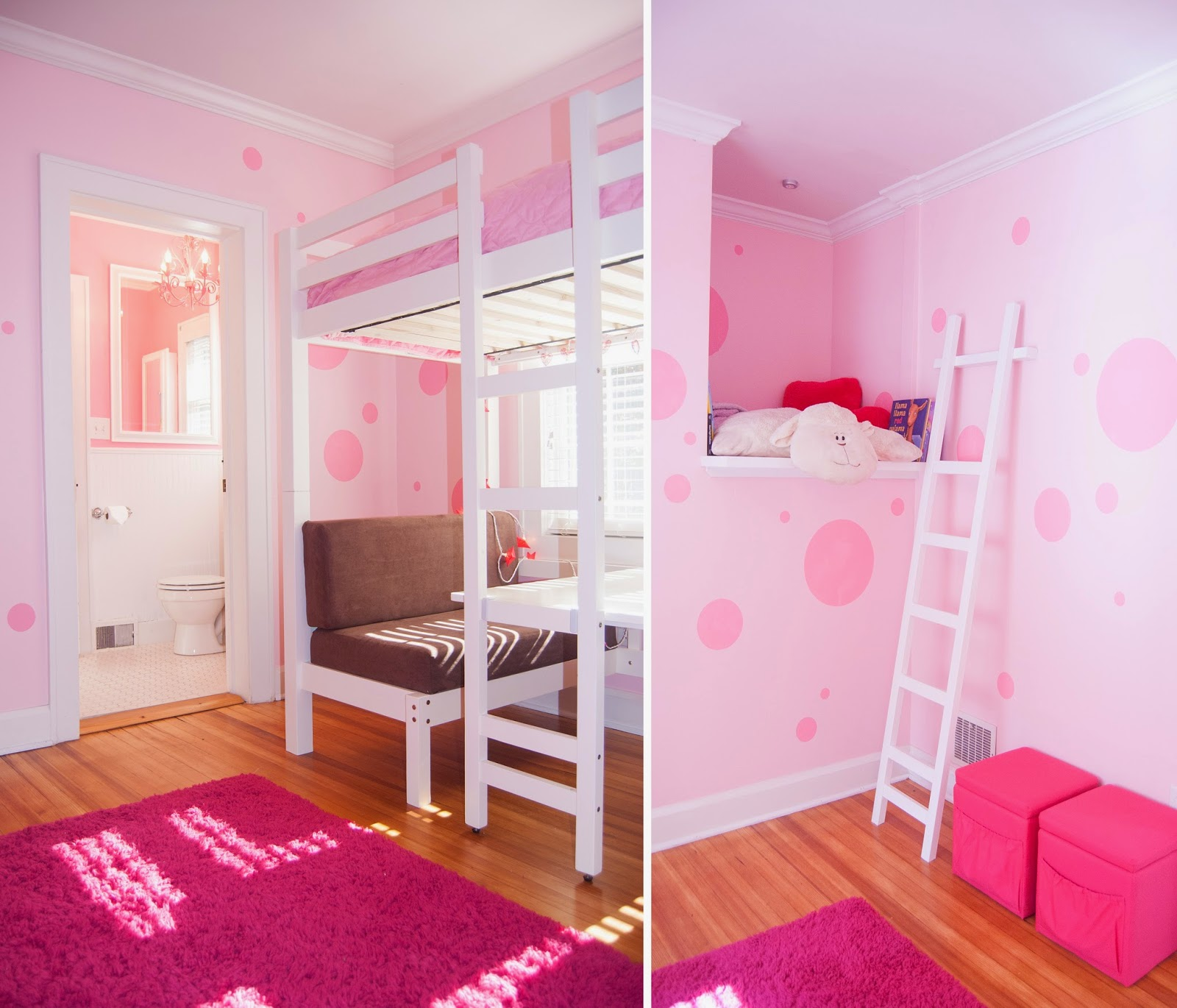 Pink room… little girl's room.