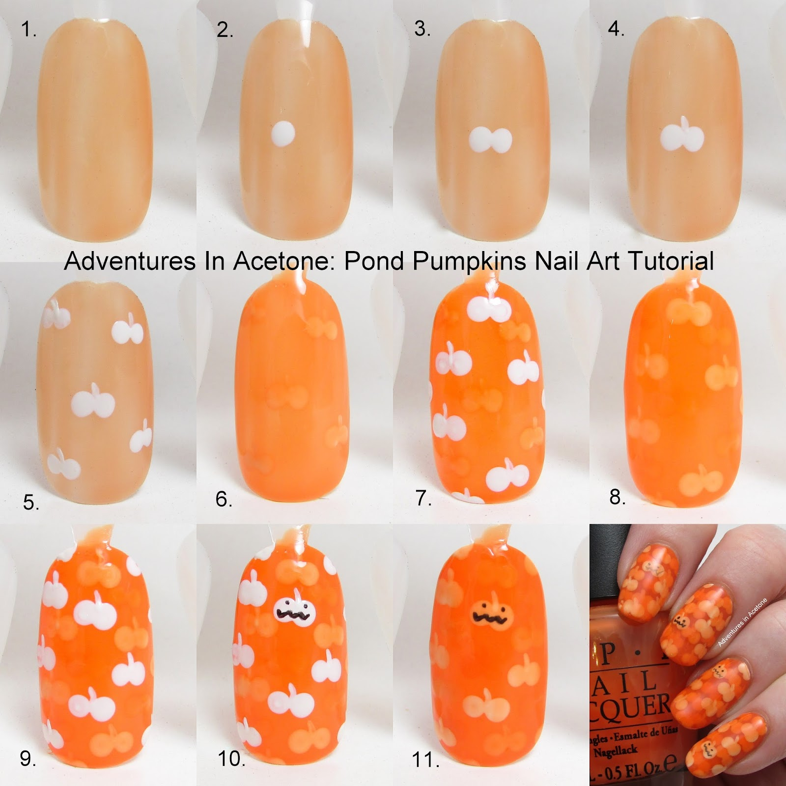 Tutorial tuesday pond pumpkins nail art adventures in acetone here is a picture of the original mani prinsesfo Choice Image