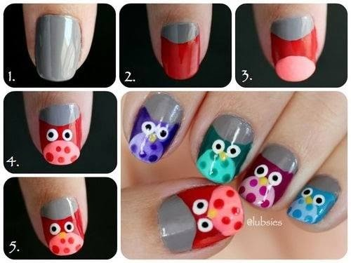 Nails Art Step By Step Tutorial #4.
