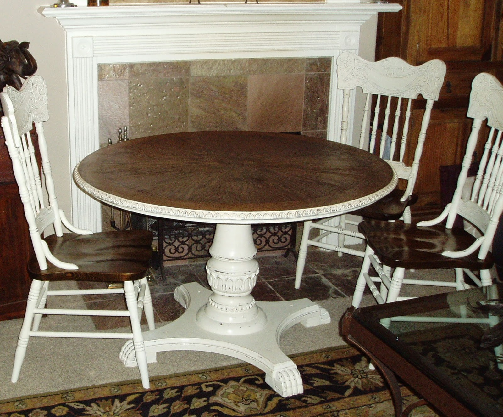 Faux painting furniture french country table chairs French country furniture