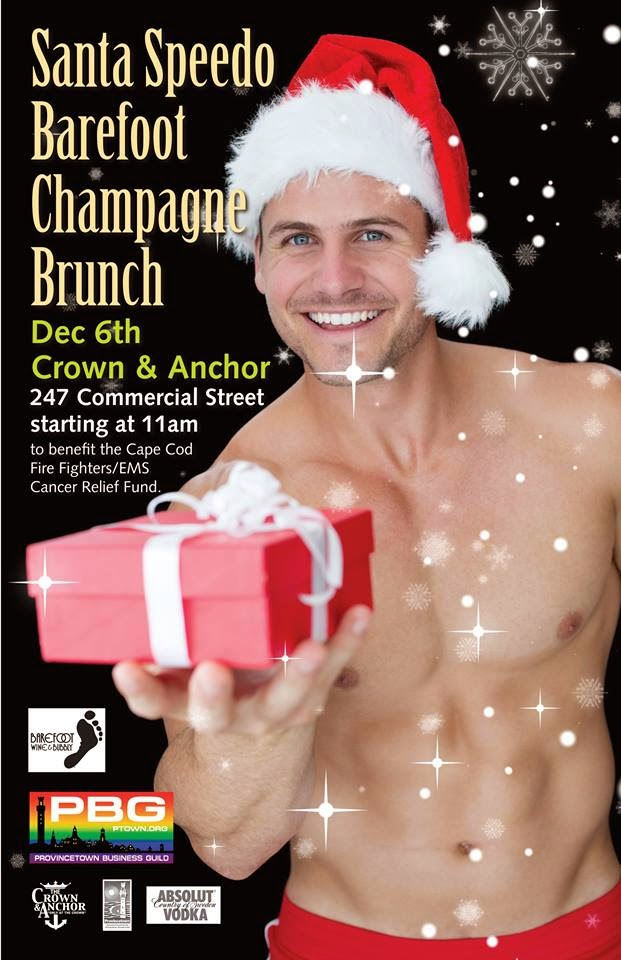Provincetown Santa Speedo Barefoot Champagne BrunchDecember 6, 2014