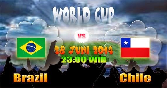 Prediksi Skor Brasil vs Cili, Perdelapan Final Piala Dunia 2014 | 28 Juni 2014