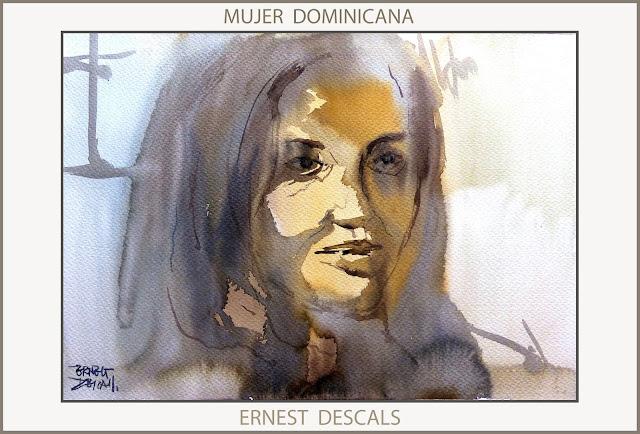 MUJER-DOMINICANA-PINTURA-MOCA-CAFETERIA-MUJERES-DOMINICANAS-PINTURAS-RETRATOS-ARTE-PINTOR-ERNEST DESCALS-