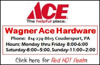 Wagner Ace Hardware, Coudersport, PA