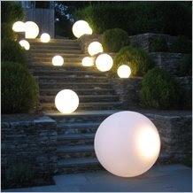 kule LED ogród