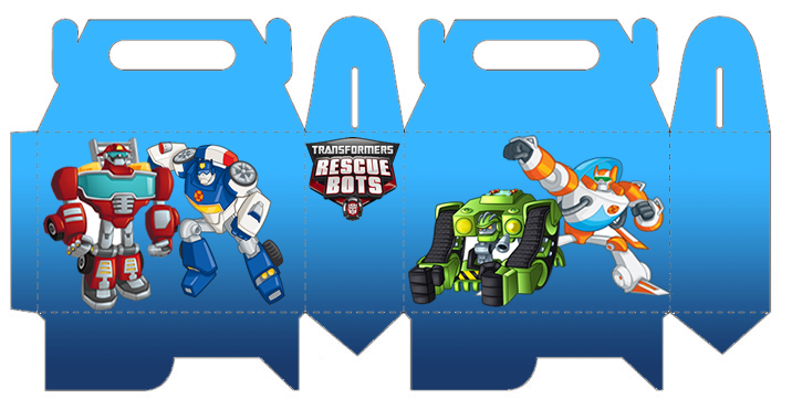 Transformers Rescue Bots Free Printable Lunch Box  Is it for PARTIES