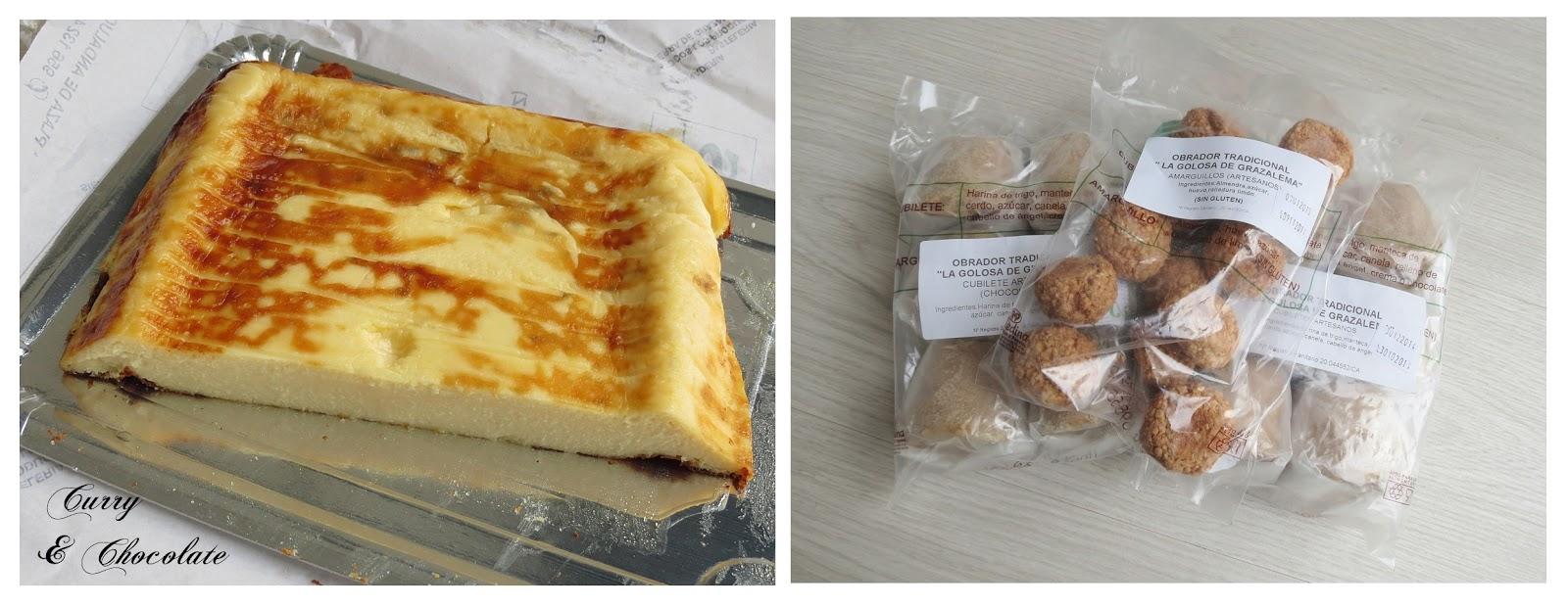 Tarta de queso payoyo y dulces típicos de Grazalema