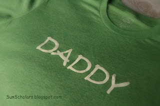 Freezer Paper Stencil Shirt for dad