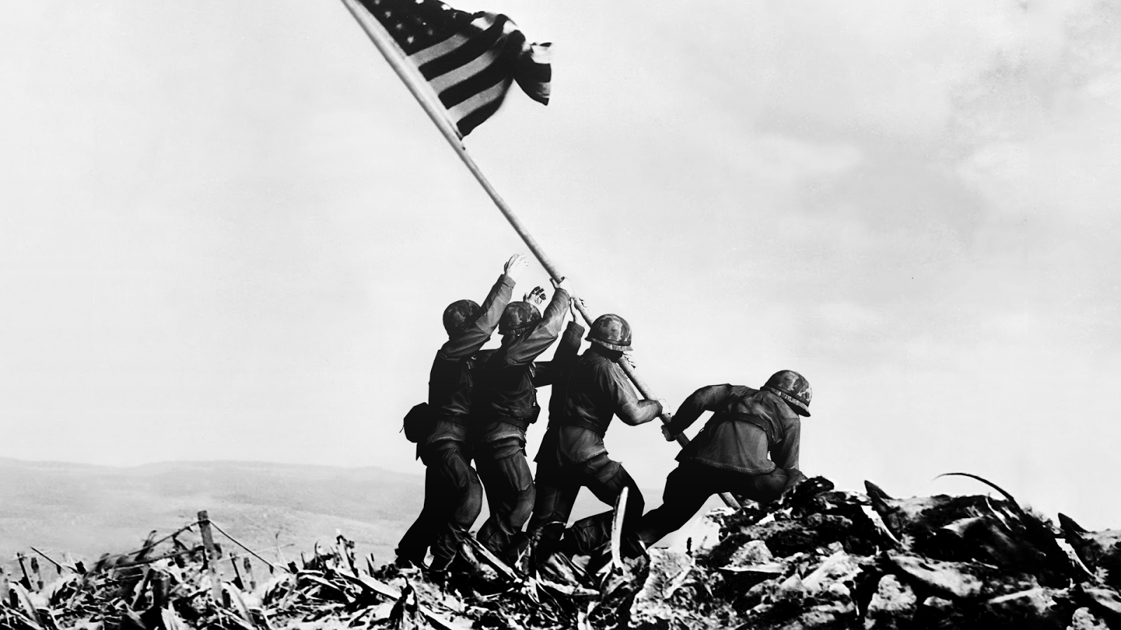 Raising the American Flag