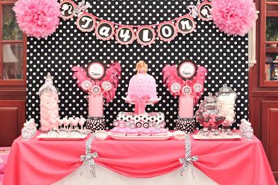 Barbie Party   Decoraci  N De Fiestas De Cumplea  Os Infantiles