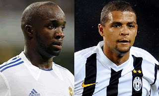 Lass Diarra and Felipe Melo in exchange